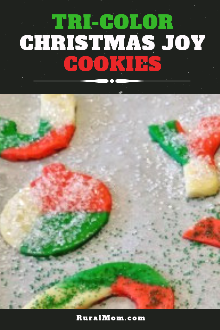 Tri-Color Christmas Joy Cookies Recipe
