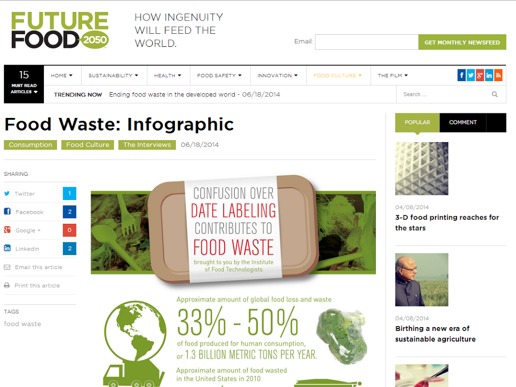 Future Food 2050 Takes on Food Waste #FutureFood2050