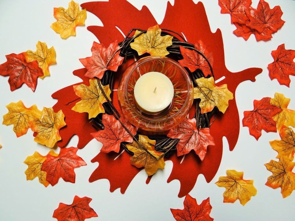 Dollar Tree Crafts Thanksgiving Autumn Leaf Candle