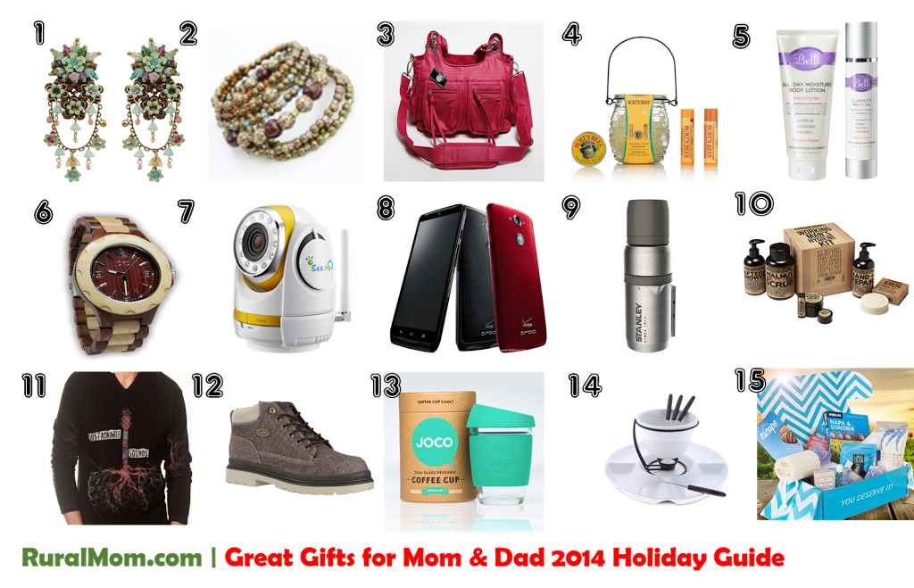 Great Gifts for Mom & Dad | Rural Mom 2014 Holiday Guide Rural Mom