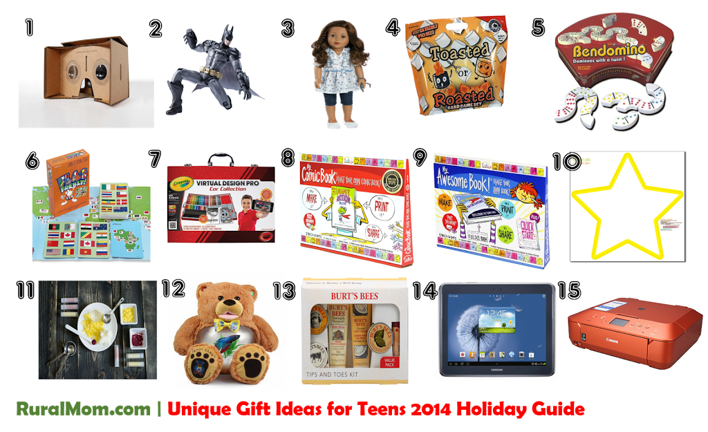 Unique Gift Ideas for Teens | 2014 Rural Mom Holiday Guide Rural Mom