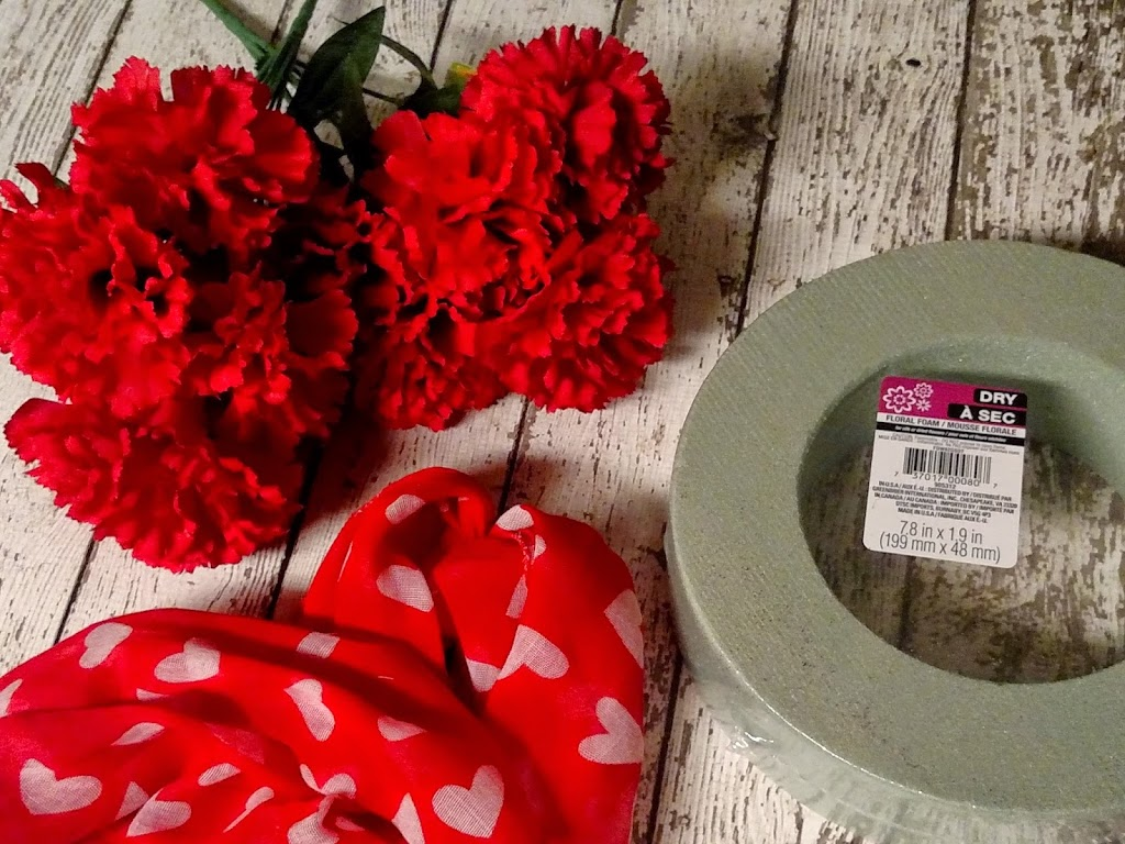 Dollar Tree Crafts Valentines Day Carnation Wreath Rural Mom