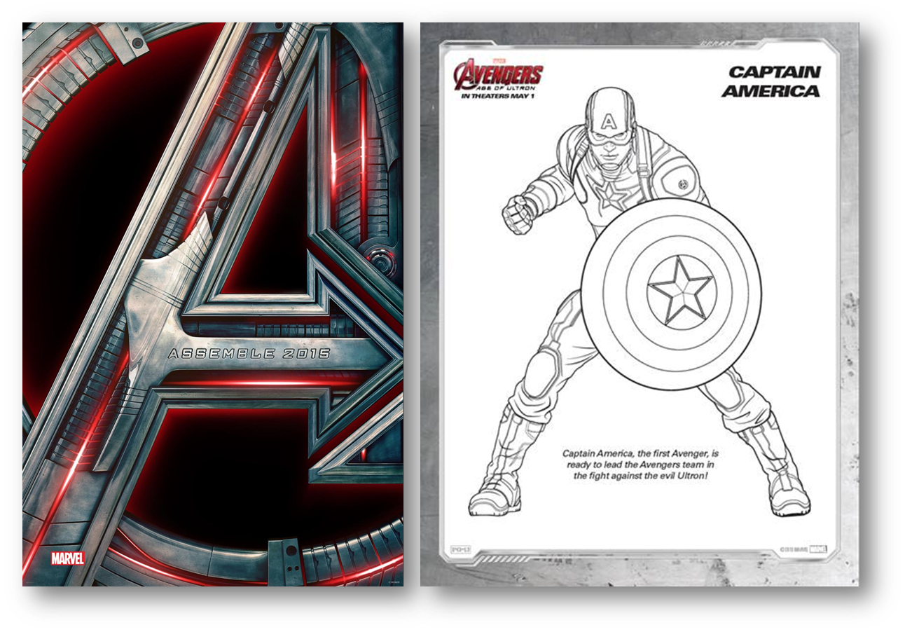 Avengers Age of Ultron Activity Sheets