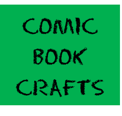 comic book crafts button