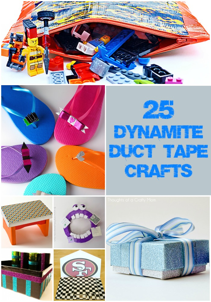 25 dynamite duct tape crafts rural mom for Super easy duct tape crafts
