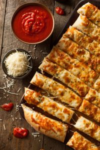 Italian garlic bread sticks for spahetti night candle craft