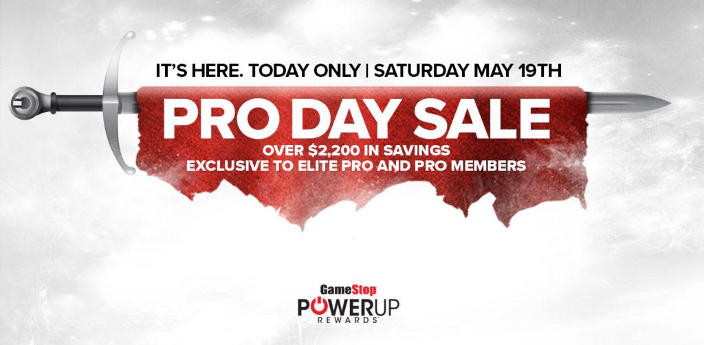 Crazy-Good Deals at GameStop PRO DAYS Sale May 19