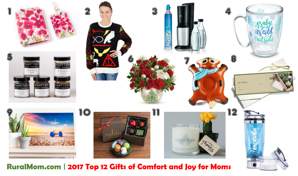 2017 Top 12 Gifts of Comfort and Joy for Moms