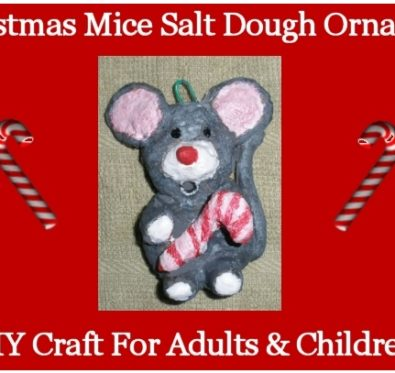 Christmas Mice Salt Dough Ornaments DIY Craft