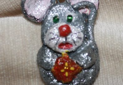 Air Dry Clay Christmas Ornament DIY Mouse