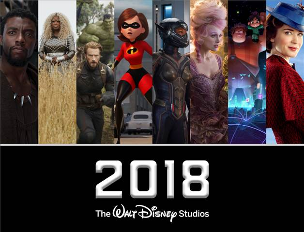 Black Panther, Mary Poppins, Mulan and More - 2018 Walt Disney Studios Movie Lineup!