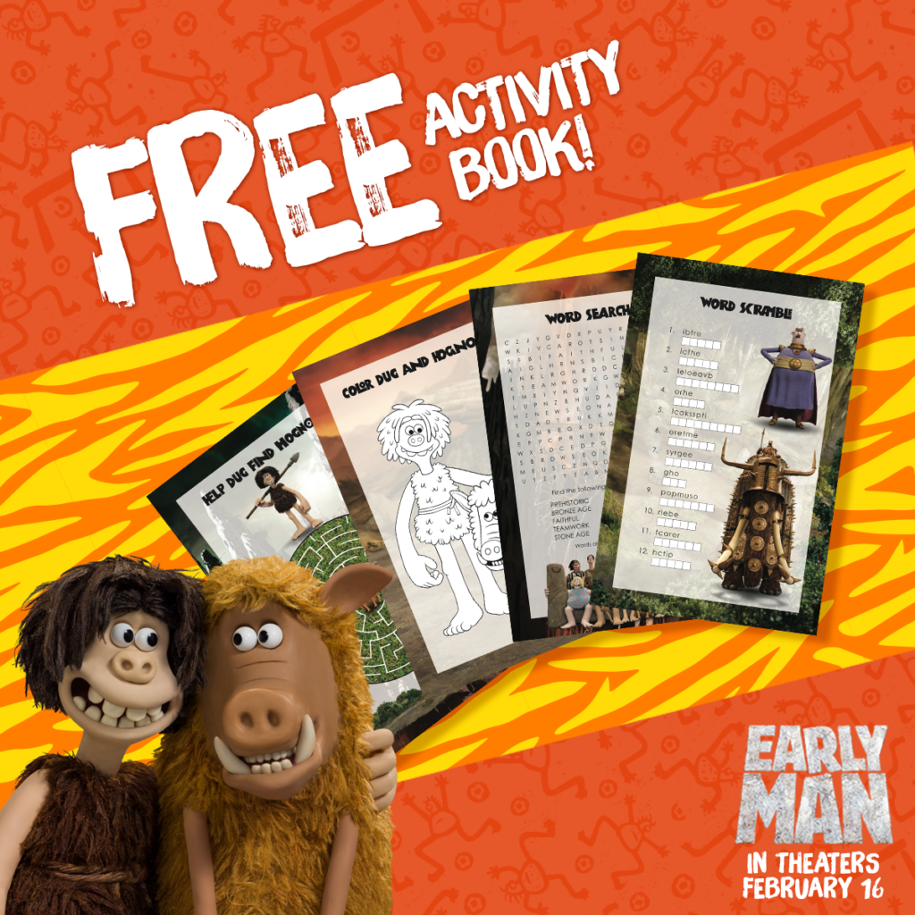 EARLY MAN Free Activity Book (and a Giveaway!)