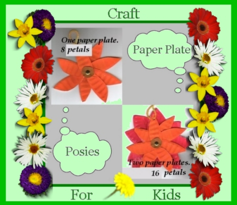 Paper Plate Posies