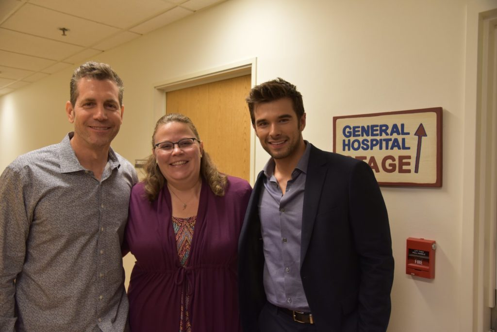 On the set of General Hospital with Frank Valentini and Joshua Swickard