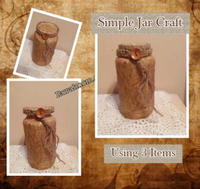 Simple Jar Craft Using 3 Items