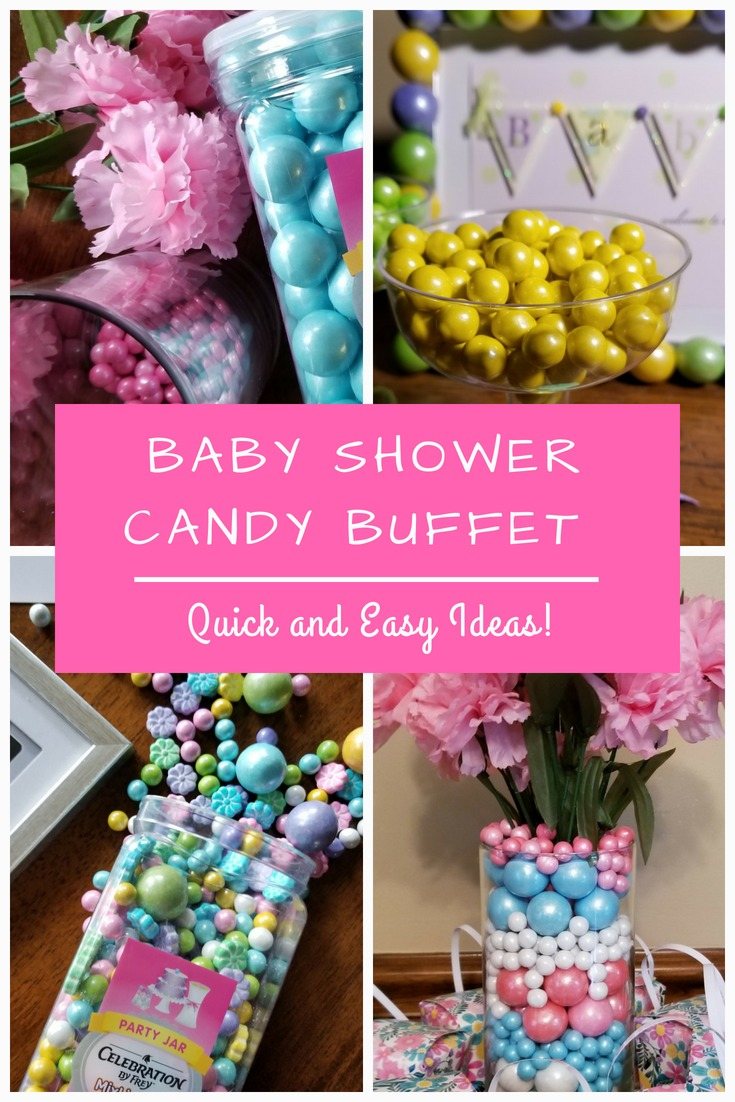 Quick and Colorful Baby Shower Candy Buffet Ideas