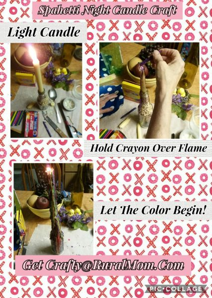 Candle Craft for Spaghetti nigh
