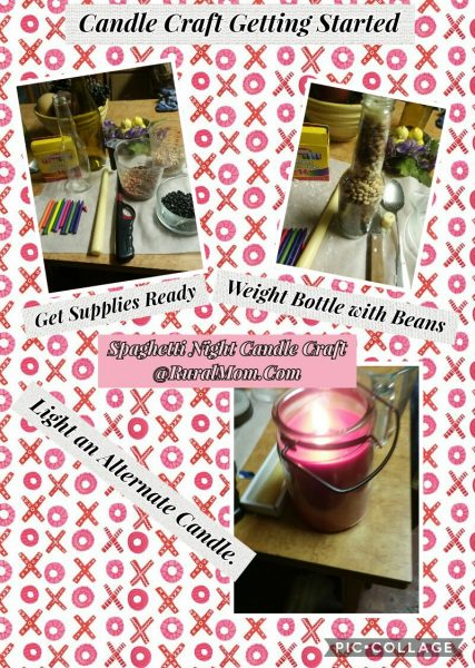 Candle craft for Spaghetti Night Theme