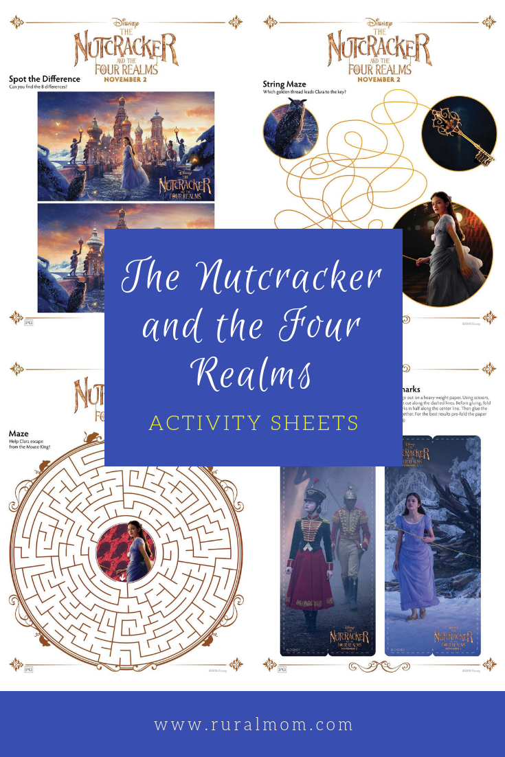 THE NUTCRACKER AND THE FOUR REALMS Activity Sheets