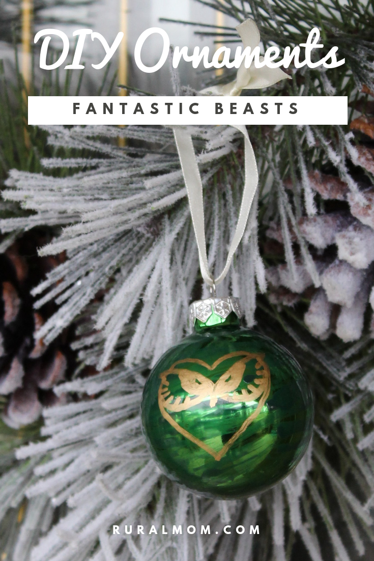 Quick and Cute Fantastic Beasts and Harry Potter DIY Ornaments