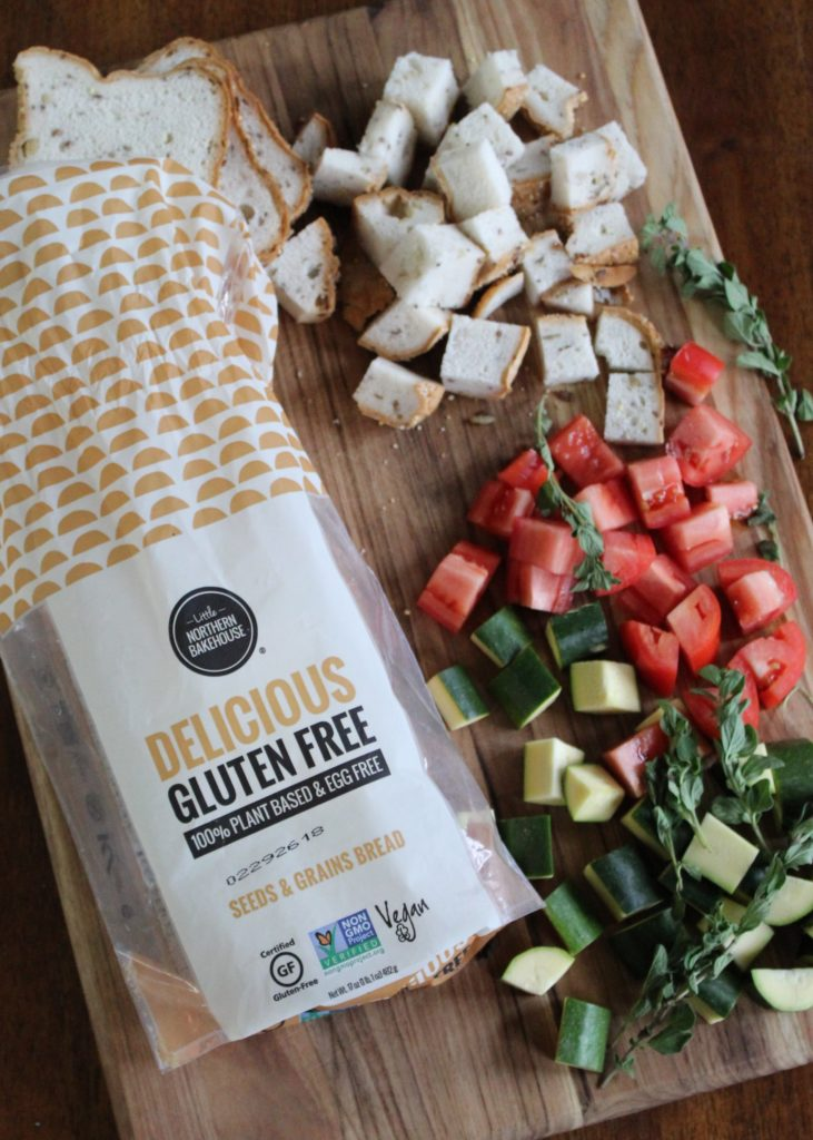 Gluten Free Italian Crouton Casserole