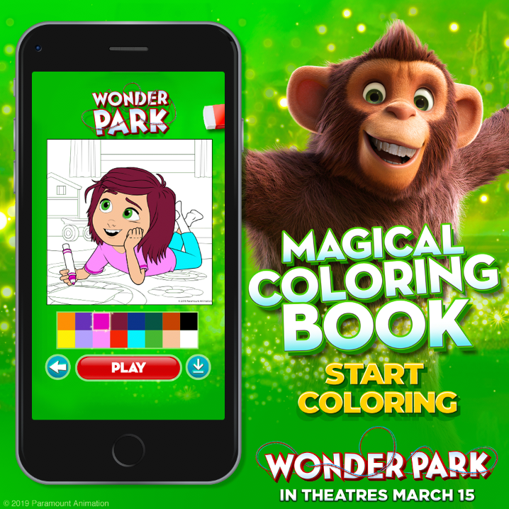Wonder Park Magical Coloring Book