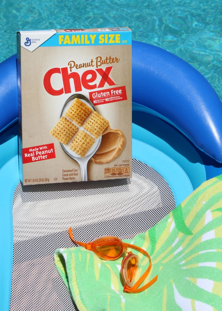 Poolside with Peanut Butter Chex