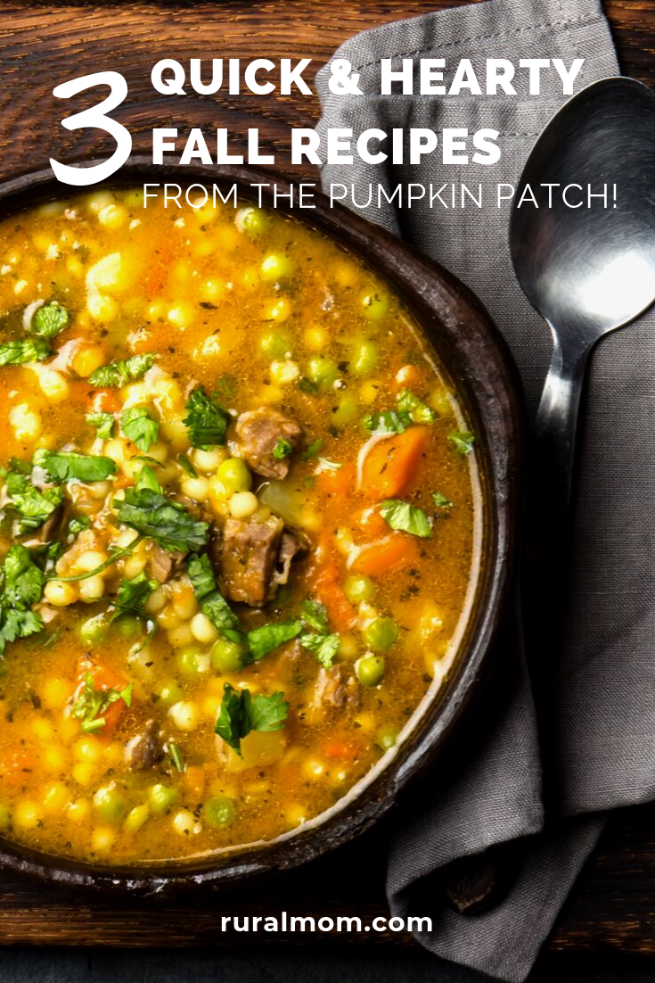 3 Quick and Hearty Fall Recipes from the Pumpkin Patch!