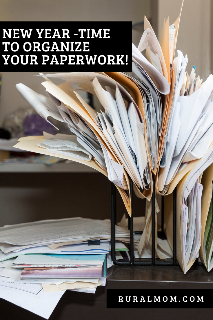 Get Ready for the New Year - Time to Organize Your Paperwork!