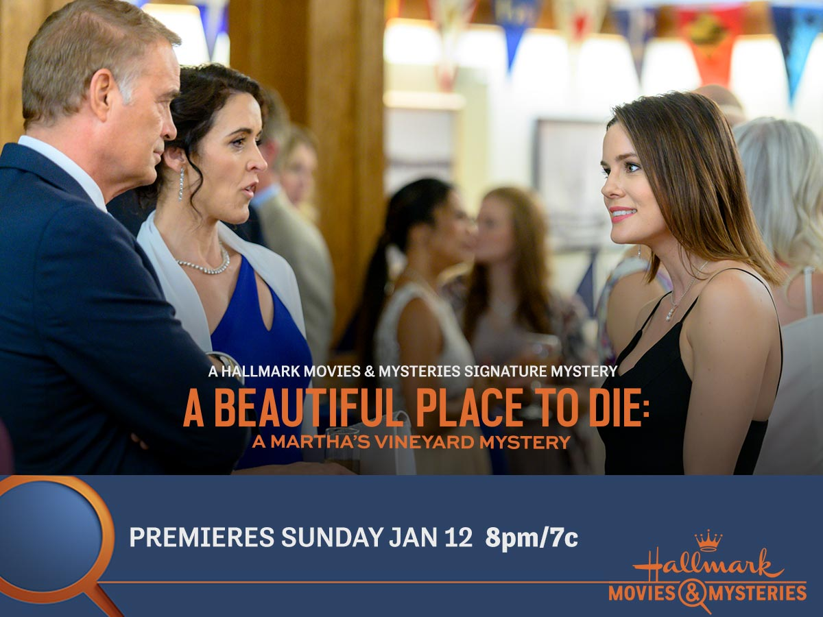 """Signature Mystery Series premiere, """"A Beautiful Place To Die: A Martha's Vineyard Mystery"""""""