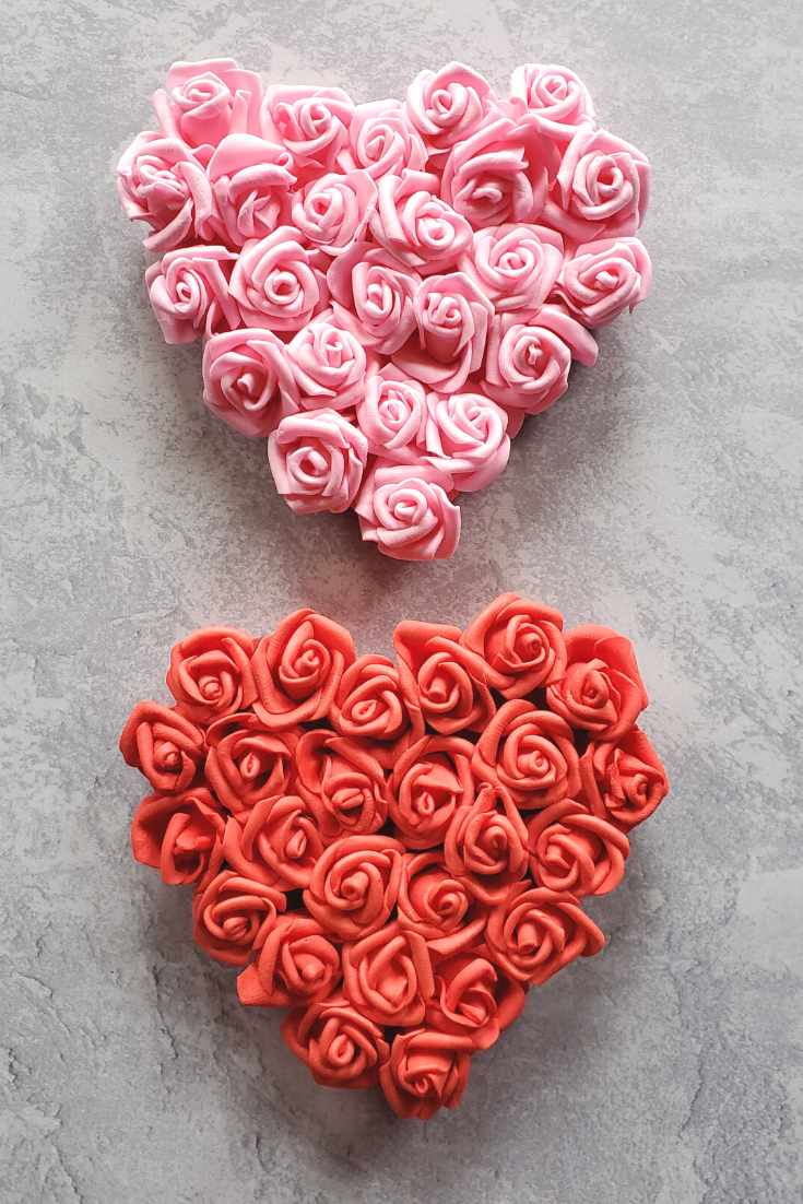 Quick and Easy Valentine's Day Rose Hearts Magnet Craft
