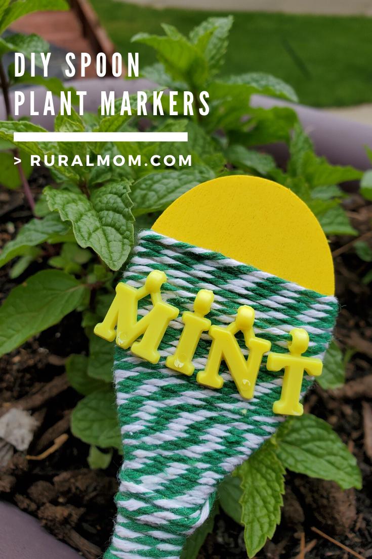 DIY Spoon Plant Markers