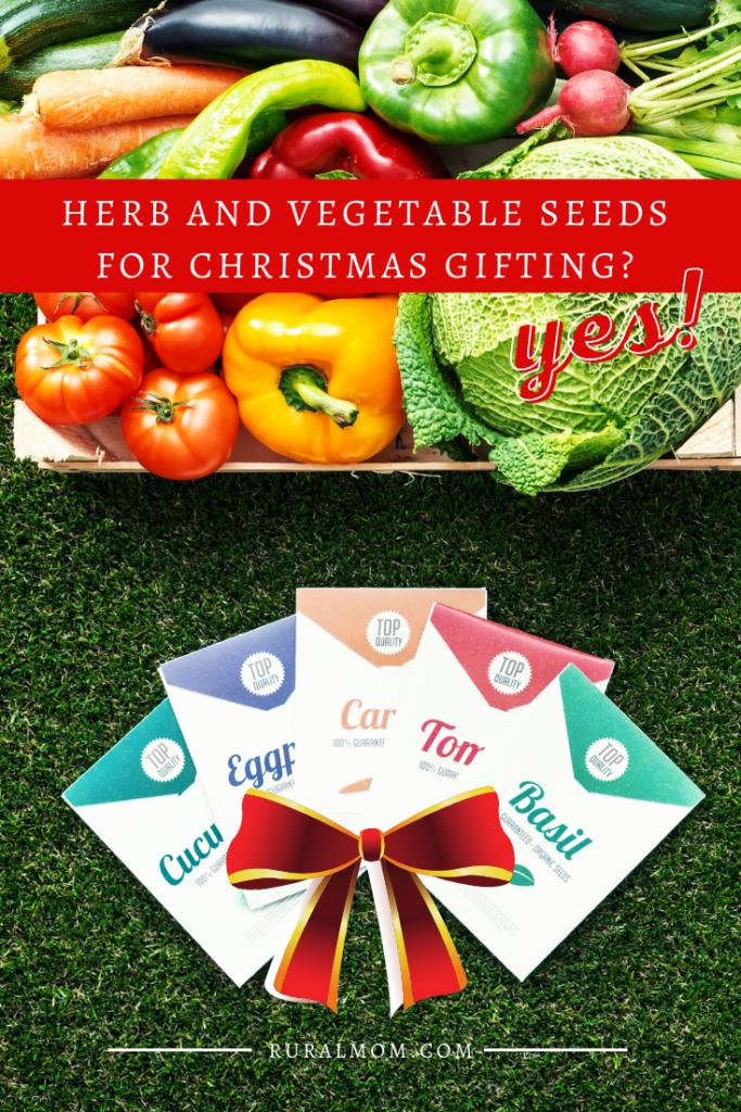 Herb and Vegetable Seeds for Christmas Gifting? Heck yes!