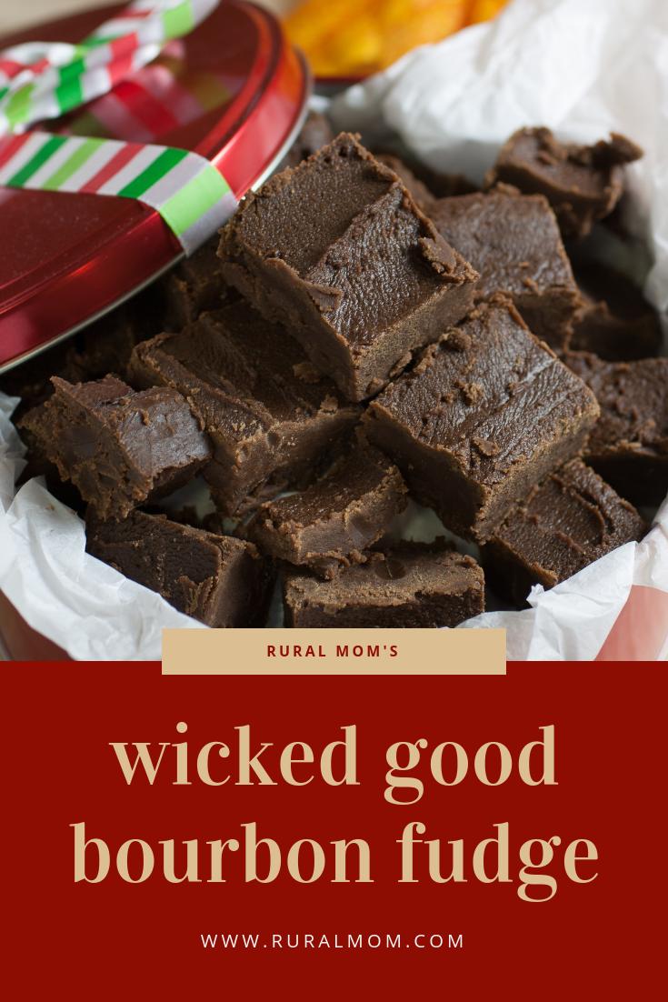 Rural Mom's Wicked-Good Kentucky Bourbon Pecan Fudge Recipe