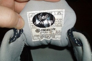 Label Daddy Camp Labels on Gymshoe