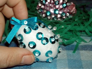 Easy Sequin Easter Egg Craft for Kids