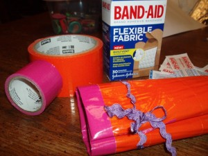 Duct Tape Mini First Aid Kit Roll
