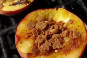 Honey Almond Grilled Peaches