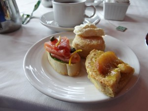 Tea time treats on Carnival Conquest (c) Rural Mom