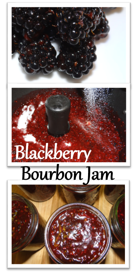 Wild Blackberry Bourbon Jam #Recipe