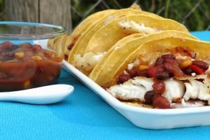 Tex-Mex Skillet Tilapia Tacos #Recipe