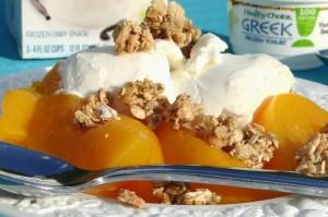 Healthy Choice Frozen Vanilla Bean Greek Yogurt Peach Crumble