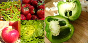 Fresh vegtables and fruits from Green BEAN Delivery