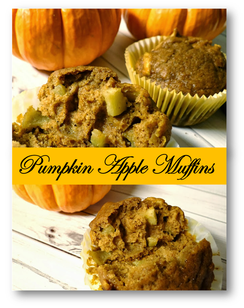 Fall Harvest Pumpkin Apple Muffins #Recipe