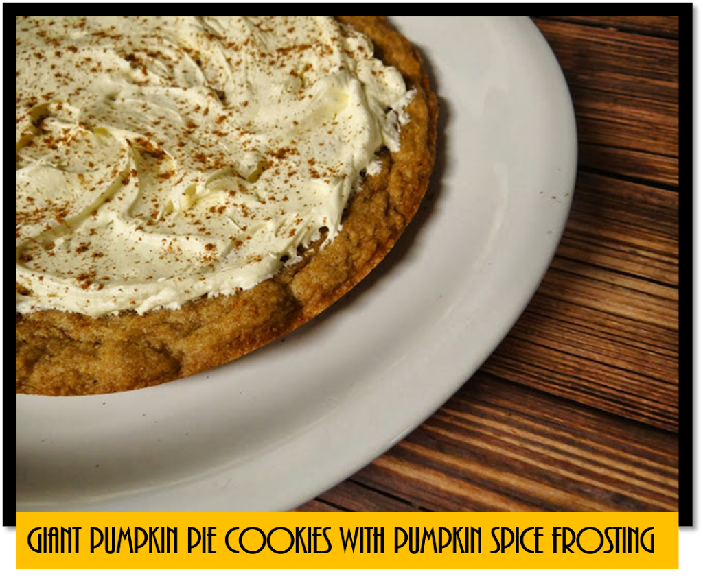 Easy to Bake Giant Pumpkin Pie Cookie with Pumpkin Spiced Cream Cheese Frosting #Recipe