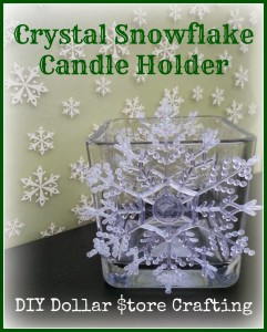 Crystal Snowflake Candle Holder | #DIY Dollar Store Crafting