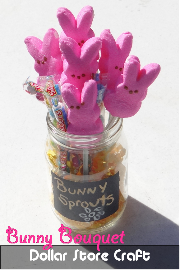 Bunny Bouquet - Quick & Easy Under $2 Dollar Store #Craft