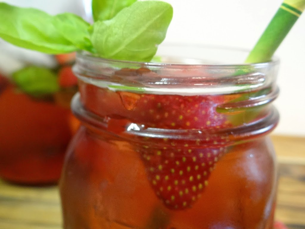 Brewing Strawberry Basil Iced Tea with Capresso