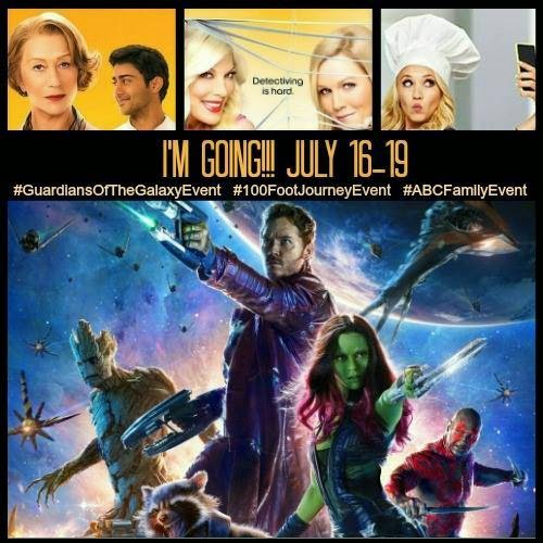 Food, Films and Fandom - Rural Mom goes to Hollywood! #GuardiansoftheGalaxyEvent #100FootJourneyEvent #ABCFamilyEvent