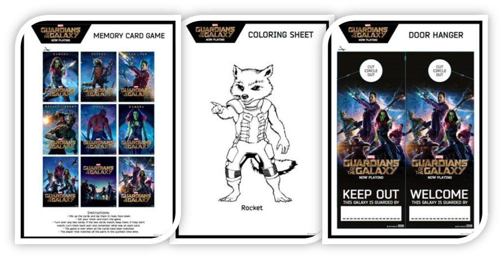 Create Your Own Milano Spaceship Console & More | Guardians of the Galaxy Coloring and Activity Sheets #GOTG